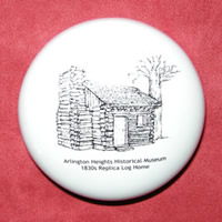 Log Cabin Paperweight